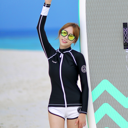 OCEAN  ZIP-UP WOMAN RASHGUARD (RT0042)