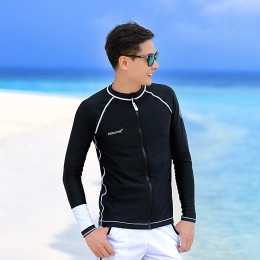 OCEAN ZIP-UP MAN RASHGUARD (RT0042)