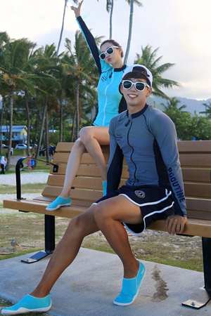 DIVE MINT&GRAY ZIP-UP COUPLE RASHGUARD (RT0041)[커플가격]
