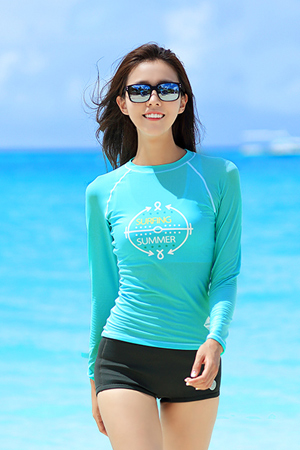 SURFING SUMMER WOMAN RASHGUARD (RT0030)
